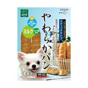 マルカン やわらかパン プレーン スティック 4本入り (犬用おやつ・パン)