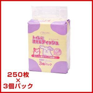 シーズイシハラ  クリーンワントイレに流せるティッシュ  250枚×3個の商品画像|ナビ