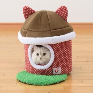 お庭つき猫ハウス レッド