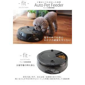 自動給餌器 オートペットフィーダー 6食分 トレイ ディッシュタイプ コスゲオリジナル ホワイト ブラック ドライ・ウェット両用 犬 猫 自動餌やり機|1096dog|02