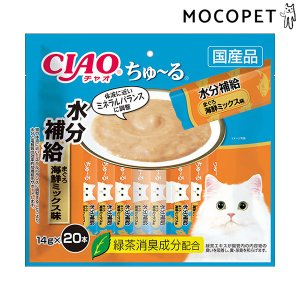 チャオちゅーる 水分補給 まぐろ 海鮮ミックス味 14g×20本入 / ちゃおちゅーる 国産 チャオチュール 猫 CIAO いなば #w-161079[RC2104] 1096dog