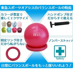 東急スポーツオアシスのバランスボール 55cm|リング付  DVD付|109oasis|04