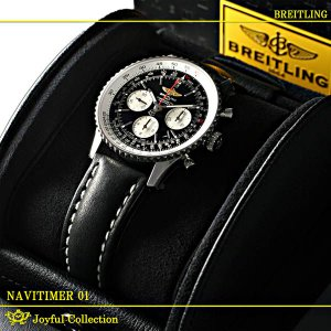 ブライトリング(BREITLING) ナビタイマー 01 黒 レザー A022B01KBA