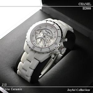 シャネル(J12) 時計 クロノグラフ 白 インデックスダイヤ CHANEL H2009