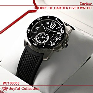 カルティエ(時計) カリブル クロノグラフ W7100046 新品。 メンズ シルバーオパラインダイ...