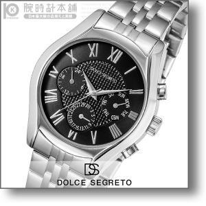 最大26倍 24日25日26日限定 ドルチェセグレート DOLCESEGRETO ドレス  メンズ 腕時計 MEA100BK|10keiya