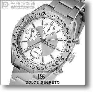 最大26倍 24日25日26日限定 ドルチェセグレート DOLCESEGRETO グランドクロノ  メンズ 腕時計 MSM101SV|10keiya