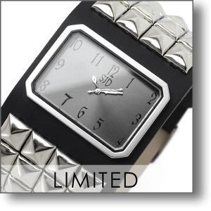 最大26倍 24日25日26日限定 ソルジャ プロデュースSoulJa SID コラボ限定 collabo SID ボーイズサイズ C004BKS スタッズ 腕時計     腕時計|10keiya
