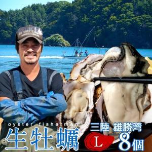 生牡蠣 殻付き L 8個 生食用 生ガキ 宮城県産 漁師直送 格安生牡蠣お取り寄せ バーベキュー|1123