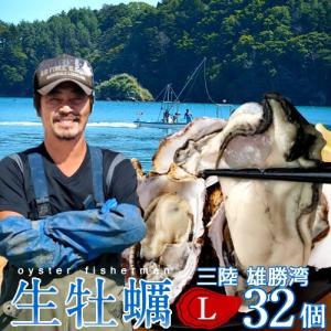 生牡蠣 殻付き L 32個 生食用 生ガキ 宮城県産 漁師直送 格安生牡蠣お取り寄せ 送料無料 バーベキュー|1123
