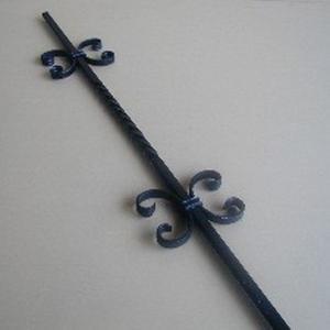 ロートアイアン子柱 (JHIK-05) 取付簡単 ウッドデッキフェンスに|1128