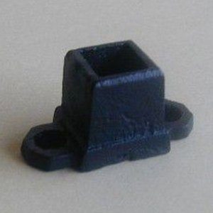 ロートアイアン子柱用座金 (JHIZ-01) 取付簡単 ウッドデッキフェンスに|1128