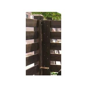 ボーダー木製フェンス用コーナーポール(ロー)ダークブラウン74×74×950(JSBP-CN950DBR)|1128