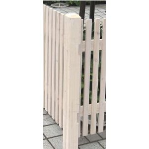 ボーダー木製フェンス用コーナーポール(ロー)ホワイト74×74×950(JSBP-CN950WH)|1128