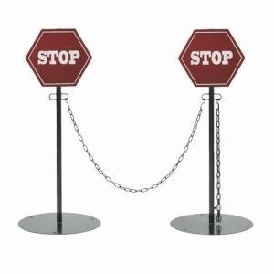 クローズゲート(STOP) ポール2本+チェーン2本セット (SI-2871-850) ※北海道・沖縄・離島送料別途見積 1128