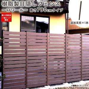 目隠しフェンス 樹脂製 高さ79cm ロワール790(追加支柱1本)|1128