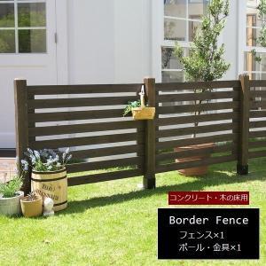 ガーデンフェンス 木製 ダークブラウン (連結セット/平地用) SFBF1000E-HB-DBR スプレッド 1128