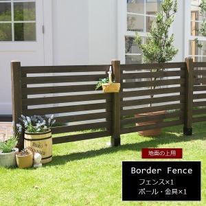 ガーデンフェンス 木製 ダークブラウン (連結セット/土中用) SFBF1000E-UB-DBR スプレッド 1128
