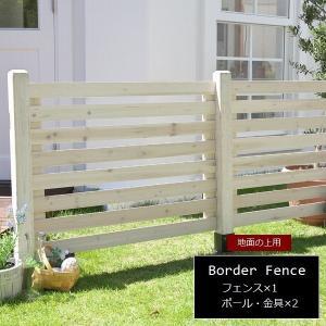 ガーデンフェンス 木製 ホワイト (基本セット/土中用) SFBF1000F-UB-WHT スプレッド|1128