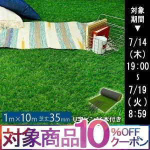 人工芝 ロール 1m×10m 芝丈35mm セット パークシアライト|1128