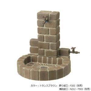 立水栓ユニット サークルタイプ パン:サークル 地中配管・補助蛇口仕様 OPB-RS-1WT-PA (蛇口別売り)|1128
