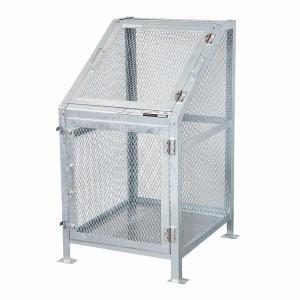 ゴミ箱 ごみ箱 ダストボックス ごみステーション ゴミステーション 屋外 メッシュごみ収集庫60 KDB-600N|1128