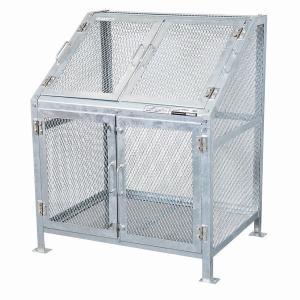 ゴミ箱 ごみ箱 ダストボックス ごみステーション ゴミステーション 屋外 メッシュごみ収集庫90 KDB-900N|1128