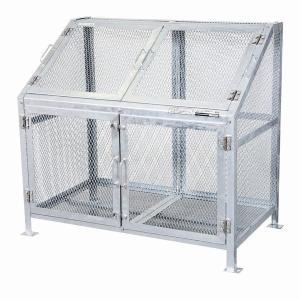 ゴミ箱 ごみ箱 ダストボックス ごみステーション ゴミステーション 屋外 メッシュごみ収集庫120 KDB-1200N|1128