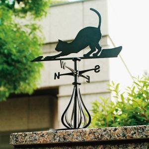 風見鶏 ホームサイズ 猫1 SSシリーズ KZSS-猫1-(A/B) 風見鶏 新居 装飾 ヨーロッパ オーナメント エクステリア|1128