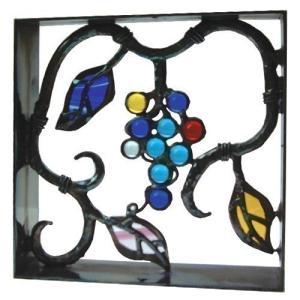 ブロック 壁飾り シャインガラス ブロック200 『ブドウII』|1128