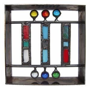 ブロック 壁飾り シャインガラス ブロック200 『マドラス』|1128