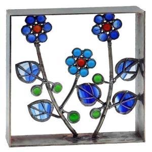 ブロック 壁飾り シャインガラス ブロック200 『ナチュラル6弁花』|1128