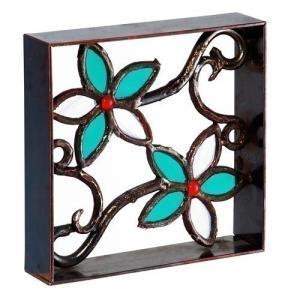 ブロック 壁飾り シャインガラス ブロック200 『花(小)』|1128