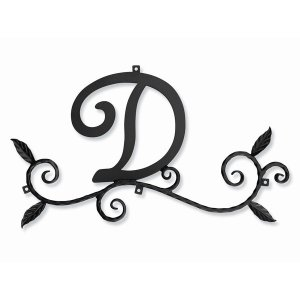 ロートアイアン 妻飾り [D] (WA-K0D) 壁飾り 新居 装飾 モダン シンプル アイアン|1128