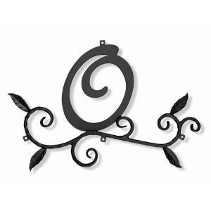 ロートアイアン 妻飾り [O] (WA-K0O) 壁飾り 新居 装飾 モダン シンプル アイアン 1128