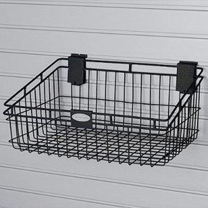 物置 TOSHO サンキャスト ウォールシステム専用バスケット40 カラー: ブラック W46×D30×H21cm (MB1218B)(約2.04kg)|1128