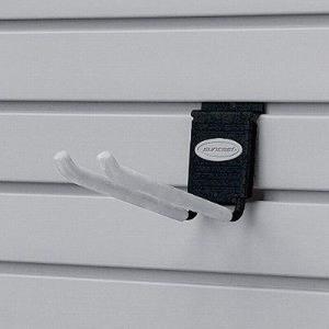 物置 TOSHO サンキャスト ウォールシステム専用ロングダブルフック カラー:ブラック W7×D12×H11cm (MH8DB)(約328.85kg)|1128