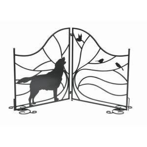 シルエットゲート (Tree&Dog) (SI-1957-1300) アイアン 玄関 犬 ※北海道・沖縄・離島送料別途見積|1128