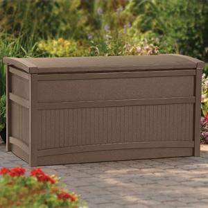 物置 TOSHO サンキャスト 50ガロン デッキボックス カラー: モカ W104×D53×H56cm (DB5000B)(約12.38kg)|1128