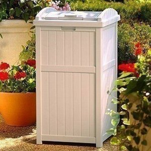 物置 TOSHO サンキャスト ウッディーダストボックス(ホワイト) カラー: ライトトープ W40×D41×H80cm (GH1732)(約6.89kg)|1128
