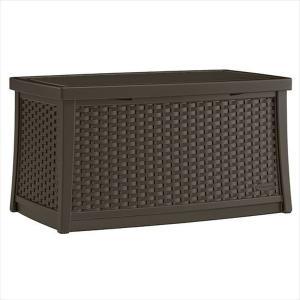 ラタン調テーブルボックス(L) コーヒー|1128