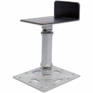 ウッドデッキ 用部材 匠力 L型鋼製束 NDL1114 グレー (対応寸法:110〜140mm)|1128