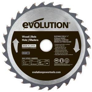エボリューション 替刃 210mm/木工専用チップソー/FURY3・RAGE3・FURY6用  EVOLUTION  EVOJ21-WOOD|1128