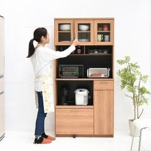 レンジ台 幅90 (FAP-0018-NABK) Keittio レンジボード キッチン 食器棚 収納 北欧風 木目調|1128