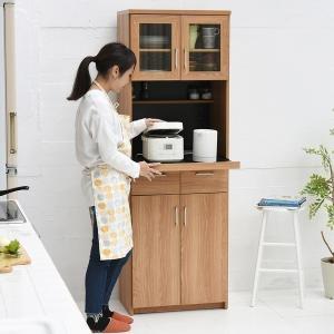 レンジ台 幅60 (FAP-0019-NABK) Keittio レンジボード 食器棚 キッチン 収納 北欧風 木目調|1128