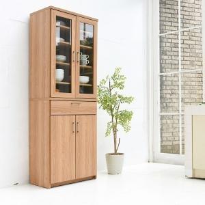 食器棚 ダイニングボード 幅60 (FAP-0020-NABK) Keittio キッチン 収納 北欧風 木目調|1128