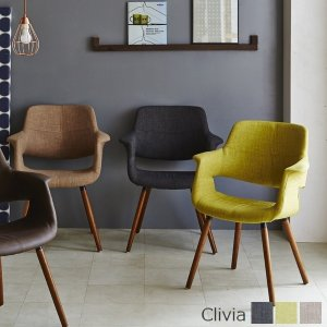 チェア アームチェア クリヴィア ファブリック 椅子 ※東北・北海道・沖縄・離島送料別途見積 (OC-01)|1128