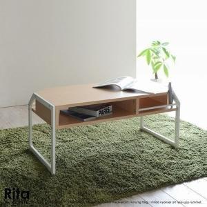 センターテーブル テーブル 木目調 北欧風 Re・conte Rita series Center Table ホワイト (RT-007-WH)|1128