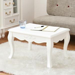 リビングテーブル 幅60.5 キャッツプリンセス duo SGT-0123-WH 白 姫系|1128