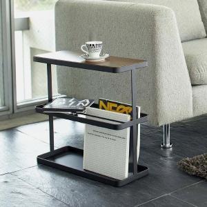 サイドテーブル テーブル マガジンラック 『タワー』 ブラック (6707) リビング 収納 1128